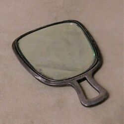 Vintage Sterling Silver Hand Held Mirror With Verese Engraved