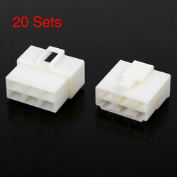 20 Sets 6.3mm 6 Pin Car Automotive Electrical Wire Connector Male Female Housing