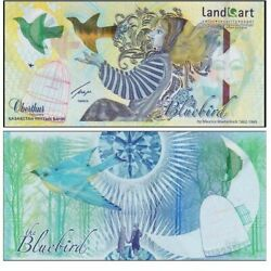 Kazakhstanbluebird Specimen Test Note Without Folder Bird