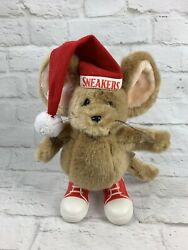 Vtg Christmas Mouse Sneakers 11 Plush Target Dayton Hudson Stuffed Animal Toy