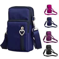 US STOCK Cross Body Cell Phone Shoulder Strap Wallet Pouch Bag Purse S L Size $9.98