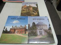 English Country Houses3 Volumes Early, Mid And Late Georgian, Hc 1955