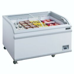 New 56 Curved Glass Top Sliding Lid Chest Freezer Dukers Wd-500y 2239 Nsf Ice