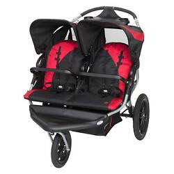 Baby Trend Lite Jogging Stroller Double Jogger 5 Point Safety Harness Candy