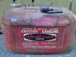Mercury Marine Gas Can Antique 5 Imperial Gallons