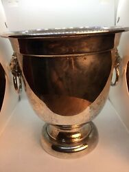 Vintage Sak's Fifth Avenue Silver Plate Champagne Bucket Made In Usa Euc