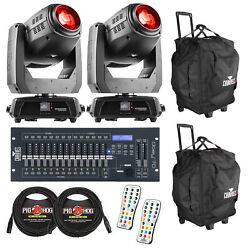 Chauvet Dj Intimidator Hybrid 140sr Lights Pair With Bags Remotes And Controller