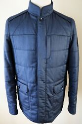 8600 Stefano Ricci Blue Cashmere Goose Down Puffer Jacket Coat 48 Euro Small