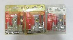 Lot Of 3 Ace Hardware 4294757 Dual Outlet Stop Valve 1/2 Od X 1/2c X 3/8c