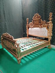 Luxury Chatelet ® Bed ..Only 1 in the World ..3D Carving ..Gold Leaf .. Mahogany
