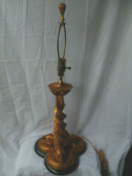 Unique Gilt Chinese Dolphin Lamp