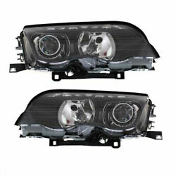 New Head Lamp Assembly Hid Set Of 2 Left And Right Side Fits Bmw 323i Sedan Wagon