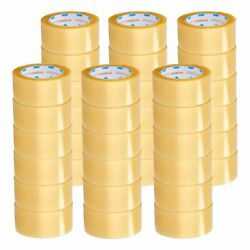 48mm X 100m Yellow Transparent Hybrid Packaging Packing Tape 1.75 Mil 1368 Rolls