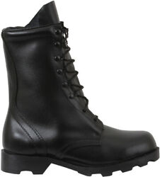 Black Speedlace Combat Boots 10 Leather Military Tactical Army Rubber Sole