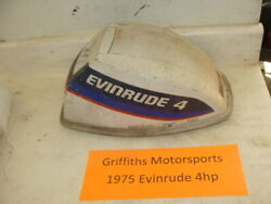 1975 Evinrude Outboard 4hp Boat Motor Engine Hood Cowl Cover Top