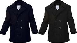 Wool Peacoat Us Navy Style Military Cold Weather Heavyweight Jacket