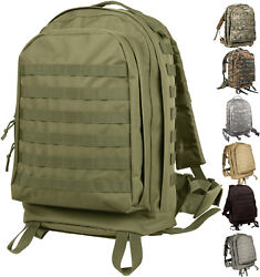 Large Tactical Backpack, Military 3-day Assault Pack Bag Molle Ii Camo Knapsack