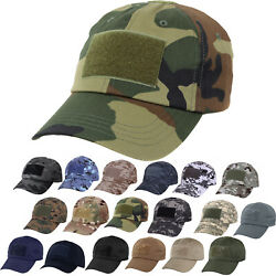 Tactical Operator Cap Adjustable Military Contractor Army Patch Camo Hat $9.99