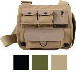 Canvas Military Shoulder Bag Messenger Pocket Army Camping Crossbody Handbag $20.99