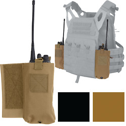 Radio Pouch Set For Side Tactical Lightweight Armor Plate Carrier Vest Lacv