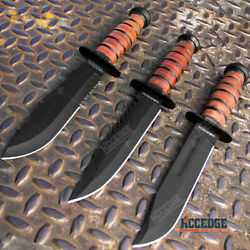 12 Military Usmc Bushcraft Knives Survival Tactical Fixed Blade Hunting Knife