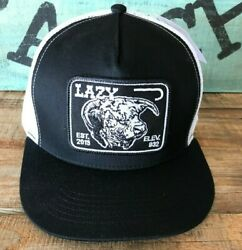 Lazy J Ranch Black and White Elevation Hereford Patch Cap