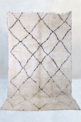 New Moroccan Beni Ourain Rug Mid Century Modern Berber Rug Made In Morocco
