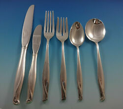 Spring Bud By Alvin Sterling Silver Flatware Set For 8 Service 51 Pieces