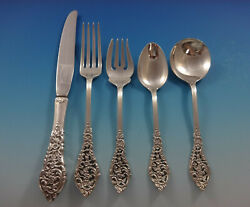 Florentine Lace By Reed And Barton Sterling Silver Flatware Service 8 Set 40 Pcs