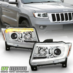 2011-2013 Jeep Grand Cherokee Led Switchback Sequential Drl Projector Headlights