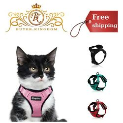 Cat Soft Mesh Harness Escape Proof With Reflective Strap For Small Puppy Kitten
