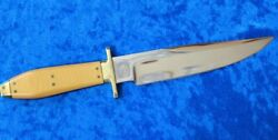 SCAGEL TYPE**Dr. Fred Carter Bowie Knife*Mirror Finish*Micarta Handle*PRISTINE