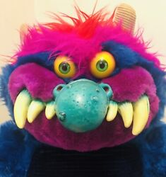 My Pet Monster ~ Vintage Original Blue 1986 Plush Doll AmToy Handcuffed - RARE!