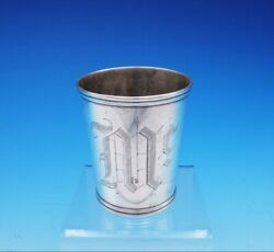 R And W Wilson Coin Silver Mint Julep Cup 3 5/8 Tall X 3 1/8 3477