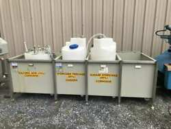 4-bay Stainless Frame Hazardous Materials Spill Containment/chemical Tank Holder