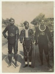3 Members Of Natal Water Police South Africa C1900s Photo By J.e.m.