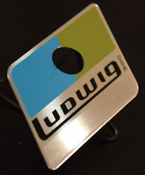 Ludwig Blue Olive Reproduction Badge w Correct Brushed Metal Area for Serial #