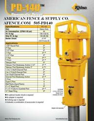 RHINO PNEUMATIC POST DRIVER PD140 FENCE POST DRIVER