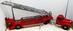 Smith-miller S.m.f.d. Hook And Ladder Truck Circa 1950's Restored