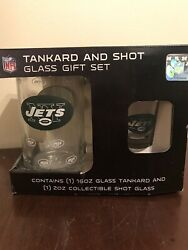 Jets Tankard And Shot Gift Glass Set Nfl Collectible