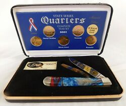 Case Xx Trapper Limited Edition 2001 State Quarters 24k Gold Quarters And Knife