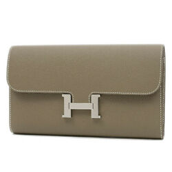 HERMES Constance Long Epsom Etoupe gray SilverHardware D stamp Free Shipping