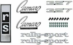 Oer Complete Emblem Set 1968 Chevy Rs Camaro With 327 Engine