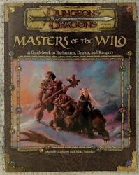 1x Masters Of The Wild A Guidebook To Barbarians Druids And Rangers Used/acc