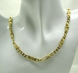 Beautiful Heavy Quality 14 Carat Gold Fancy Link Necklace By Pan Gold
