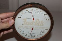 Vintage Feed Rite Seed Advertising Thermometer Copper Edge Farm Barn