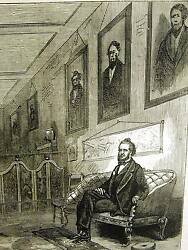 Mormonism Brigham Young In His Study Mormon Troubles 1871 Antique Print Matted
