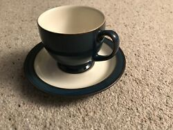 Denby Boston Tea Cup And Saucer Vgc Discontinued Range