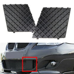 Front Bumper Lower Grille Mesh Covers For 2004-2010 Bmw E60 E61 5 Series M-sport