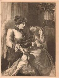 TRYING to give ATTENTION to all  DOGS FAT TERRIER not having it antique 1886